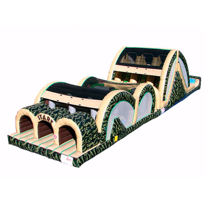 Camo Triple Lane Inflatable Obstacle
