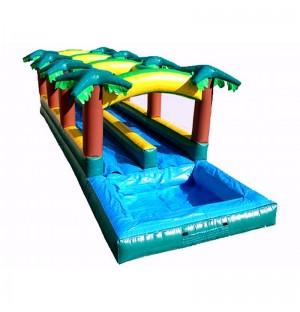 Hawaiian Slip And Slide With Inflatable Pool