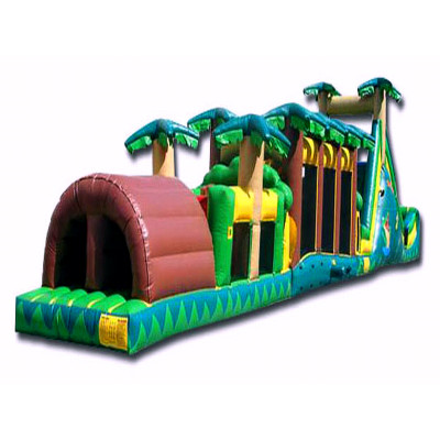 Jungle Themed Obstacle Course Jumper