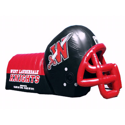 Large Inflatable Football Helmet Tunnel