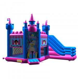 Pink Princess Jumping Castle