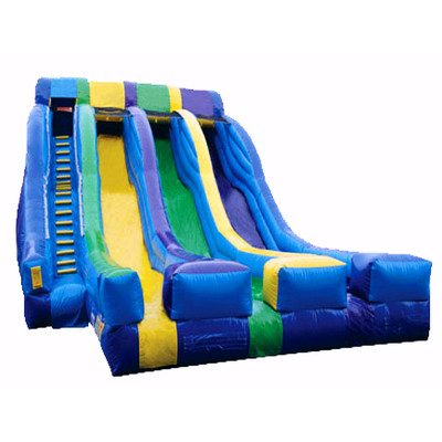 Triple Splash Inflatable Slide