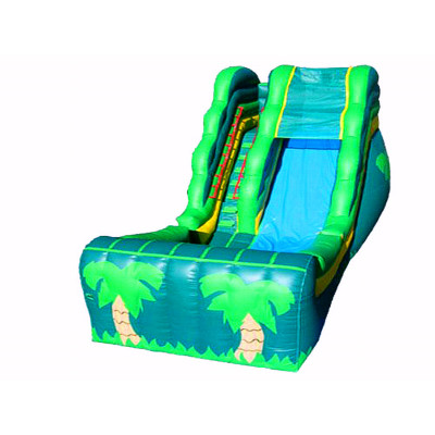Tropical Theme Inflatable Slide
