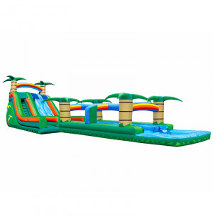 Tropical Water Slide Dual Lane Slip N Slide Combo