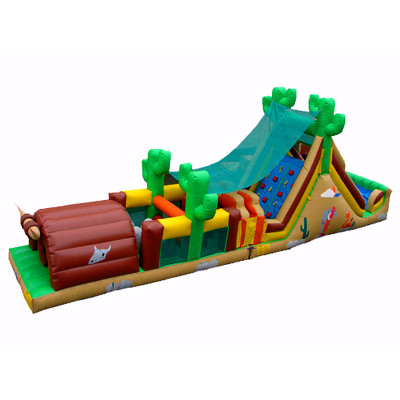 Western Themed Bouncy Obstcle Course