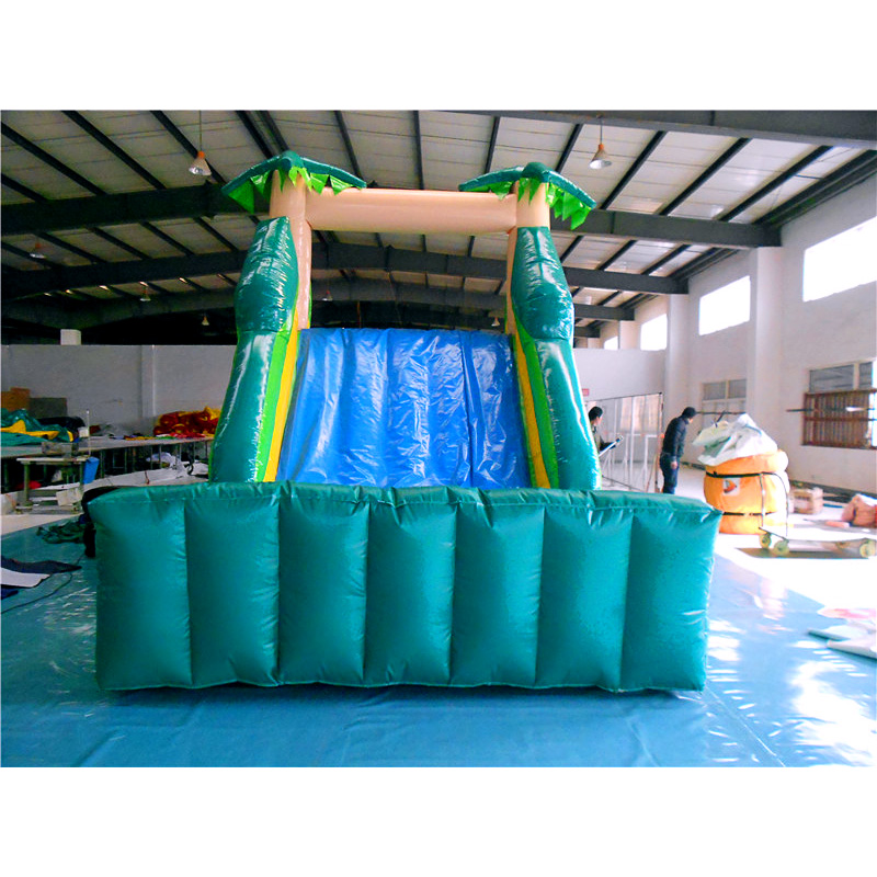 Backyard Tropical Bouncy Obstacle Course