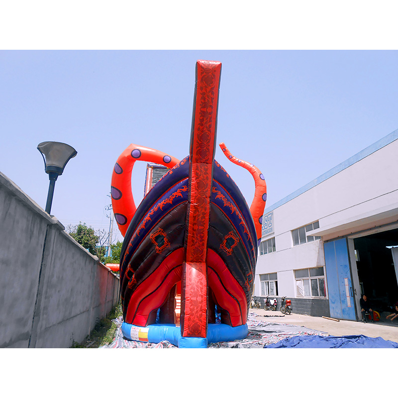 Huge Kraken Inflatable Slide