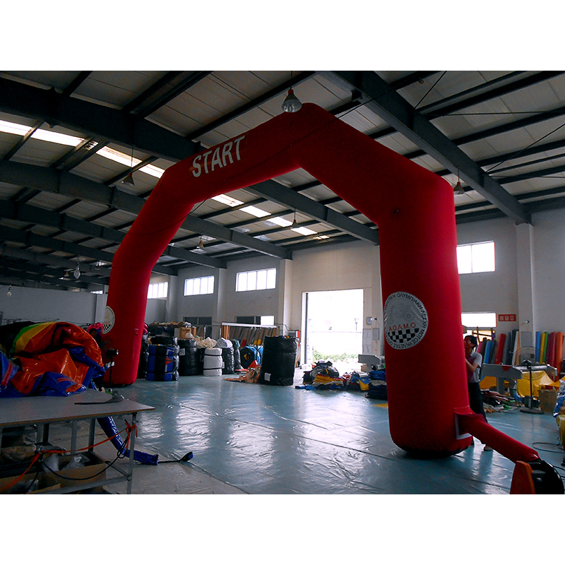 Inflatable Red Dodge Arch