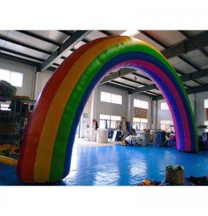 Rainbow Blow Up Arch