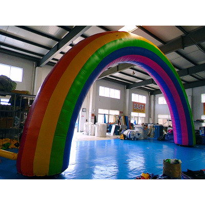 Rainbow Blow Up Arch