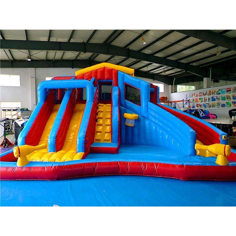 Splash Water Park Inflatables Splash Pools Water Slide With Swimming Pool Kids Waterpark For
