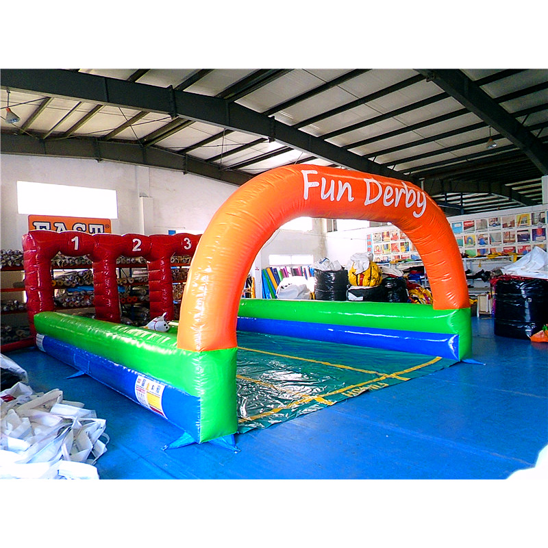 Three Lane Inflatable Fun Derby
