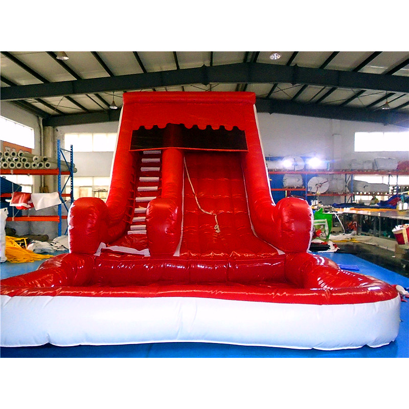 Volcano Blow Up Slide With Detachable Pool