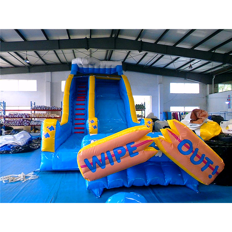 Wipe Out Large Inflatable Slide